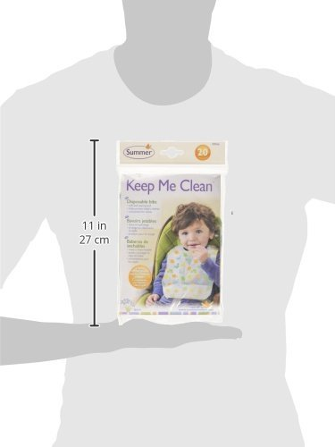 Summer Infant Keep Me Clean Disposable Bibs Travel Pack, 20-Count