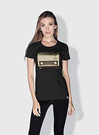 Creo Radio Retro T-Shirts For Women - S, Black