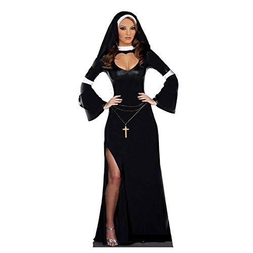 Fashion-Cos1 Sexy Black Slutty Nasty Nun Costume
