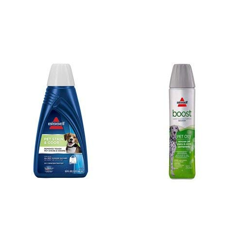 BISSELL 2X Pet Stain & Odor Portable Machine Formula, 32 ounces with Pet Boost Oxy Formula for Cleaning Carpets by Bissell