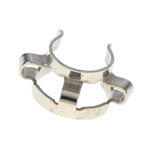 (MagiDeal Stainless Steel Test Tube Clamp Keck Clips for 14mm Glass Ground Joints Lab Equipment)