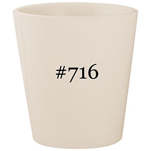 #716 - White Hashtag Ceramic 1.5oz Shot Glass ()