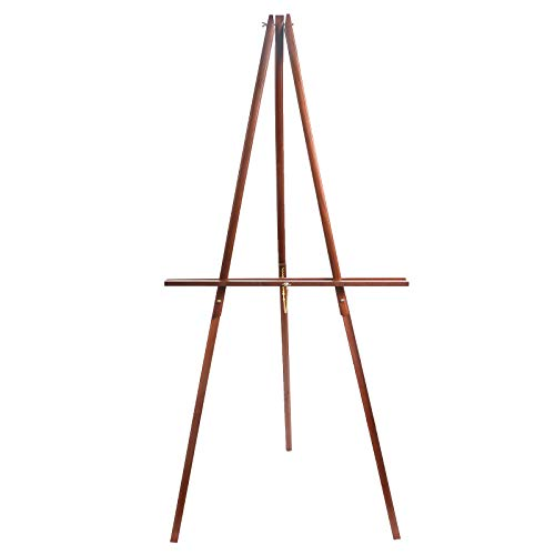 """CONDA 66"""" Wooden Tripod Display Floor Easel & Artist Easel, Adjustable Tray Chain Pine Brown Wood from conda"""
