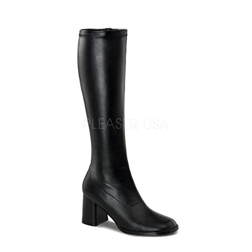 Donna Collo a black Nero da GOGO Funtasma Matt Alto Scarpe 300 6q0nIt
