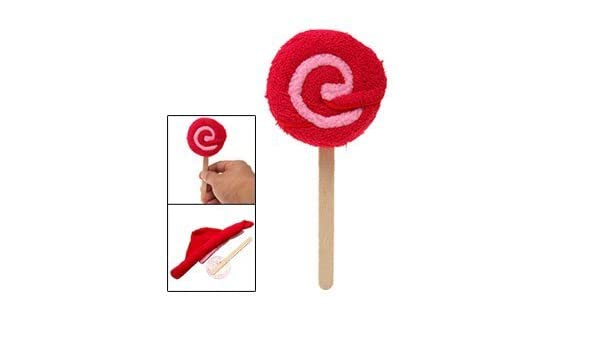 Amazon.com: eDealMax Lollipop Diseño Mano del remolino Washcloth de la toalla roja: Home & Kitchen