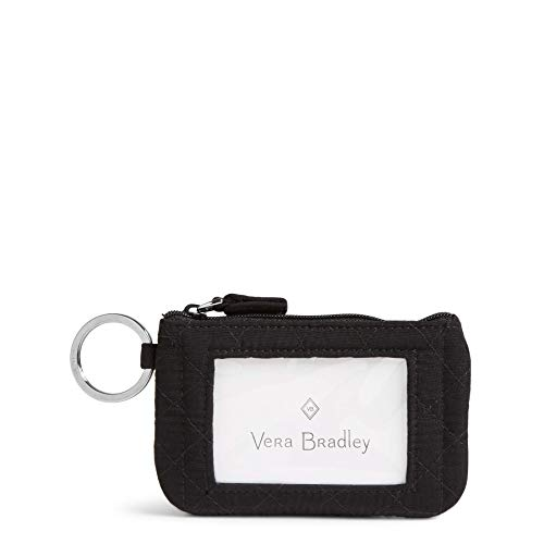 Vera Bradley Women's Iconic Zip Id Case Vv, Classic Black (Best Bank To Get A Credit Card For Students)