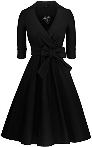 Angerella Deep V-Neck Evening Vintage Party Casual Dress For Women