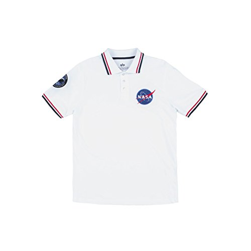 Nasa White Men Polo Alpha Shirt Industries IqF7w6Y