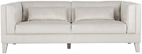 Sunpan Modern Zander Sofa, Champagne Fabric