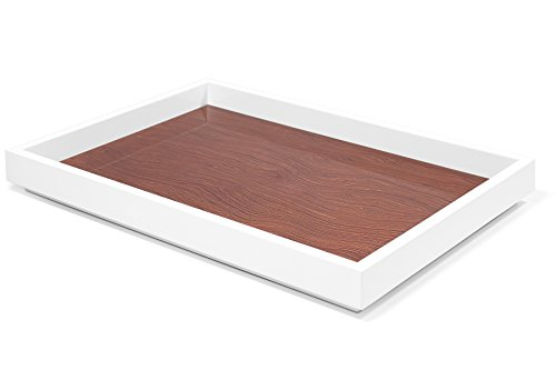 Swing Tray - Swing Design Aura Lacquer Serving Tray, 12 by 17-Inch, Walnut