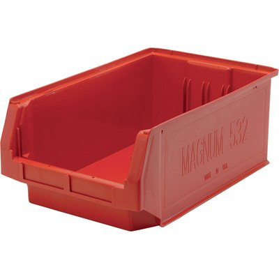 Quantum Storage Magnum Bin - 6-Pack, 19 3/4in.L x 12 3/8in.W x 7 7/8in.H, Red, Model# QMS532RD-Z