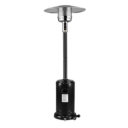 tio Heater Garden Outdoor Heater 46,000 BTU's Stainless Steel Black (20' Black Fire Pit)