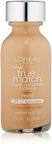 L'Oreal True Match Super Blendable Makeup, Natural Buff [N3], 1 oz (Pack of 2)