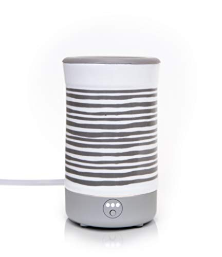 Happy Wax Signature Wax Melt Warmer 2.0 for Scented Wax Melts, Cubes, Tarts - Electric Wax Melter with Automatic Timer, Patent Pending Silicone Top (Gray Stripe)