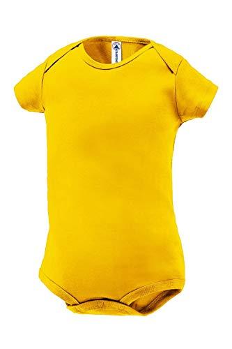 Delta Apparel Plain Basic Infant Baby Boys or Girls Creeper/Onesie/Bodysuit/Snapsuit (3 mo, Yellow) ()