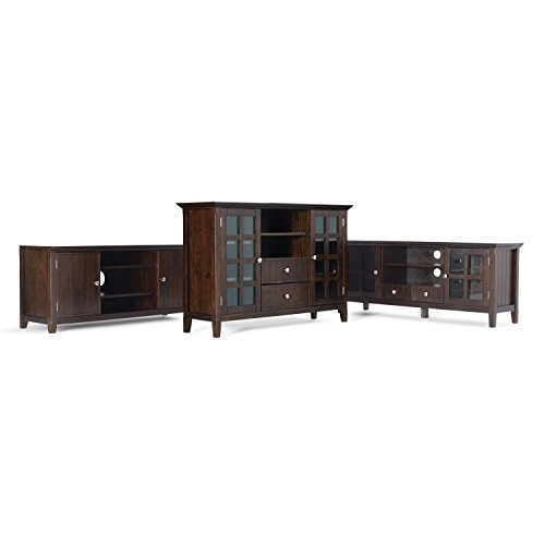 Simpli Home Acadian Solid Wood TV Media Stand for TVs up to 60'', Rich Tobacco Brown by Simpli Home (Image #5)