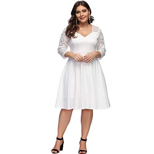 100% hohe Qualität am besten geliebt bester Großhändler 60%OFF Lover-Beauty Damen Maxikleid Große Größen Kleid V ...