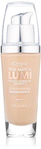 L'Oréal Paris True Match Lumi Healthy Luminous Makeup, N3 Natural Buff, 1 fl. oz. (L Oreal True Match Lumi Healthy Luminous Makeup)