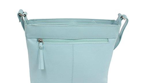 Mala Leather, Borsa a spalla donna, Blue (Blu) - 7130_12 blu