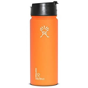 Hydro Flask Insulated Coffee, Tea and Water Bottle - 18 oz Orange Zest