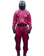 WATERSPA Inktvis Game Merch Hoodie Broek Tweedelige Set Squid Game 456 067 001 Trainingspakken Sweatsuit Outfit Set Sweatshirt Jogger Broek voor Mannen Vrouwen