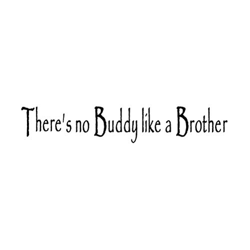 Vosarea Wall Decal Quotes There's No Buddy Like A Brother Vinyl Wall Stickers for Kids Room Art Mural