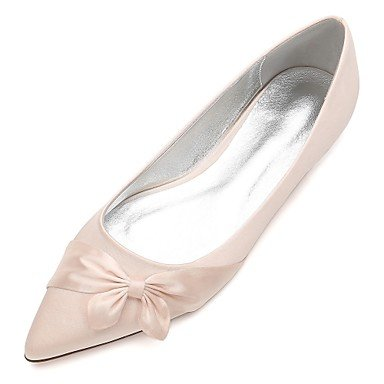 Spring Blue 8 Party Comfort UK7 5 Ruby 10 amp;Amp; US9 CN42 Dress Heelivory Flat Bowknot Women'S EU41 Wedding Champagne Rhinestone RTRY Wedding Evening 5 Shoes Summer Satin qX4fT8