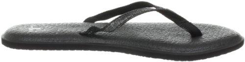 Sanuk Women's Yoga Spree 2 Flip Flop,Black,11 M US