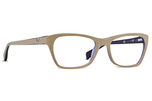Ray Ban RX5298 Eyeglasses-5387 Top Matte Beige On Transparent Violet-53mm