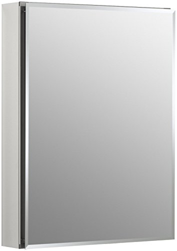 (KOHLER K-CB-CLC2026FS Frameless 20 inch x 26 inch Aluminum Bathroom Medicine Cabinet; ; Recess or Surface Mount)