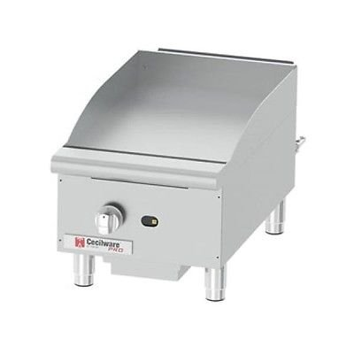 Cecilware Pro GCP15 Commercial Gas Countertop Griddle 30,000 BTU by Cecilware