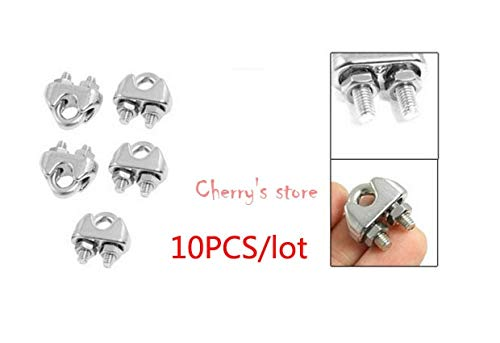 Ochoos Best Promotion Wholesale Price 10 Pcs 304 Stainless Steel Saddle Clamp Cable Clip for 3/25'' 3mm Wire Rope