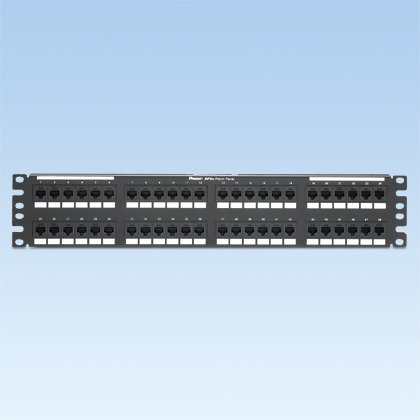 Panduit DP485E88TGY Category-5E 48-Port Flat Punchdown Patch Panel, Black