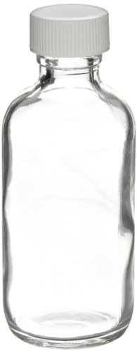 wheaton-w216802-boston-round-bottle-clear-glass-capacity-4oz-with-22-400-white-polypropylene-poly-vi