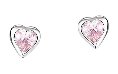 guetter courir chaussures grosses soldes Jo for Girls - CE160PZ/AM - Boucles d'oreille Enfant - Coeur ...