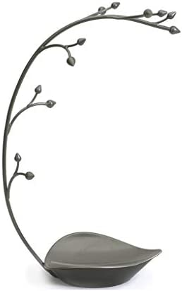 GWM ジュエリーツリー - ジュエリースタンド、収納皿、メタルオーキッドデザイン、15inch Tall
