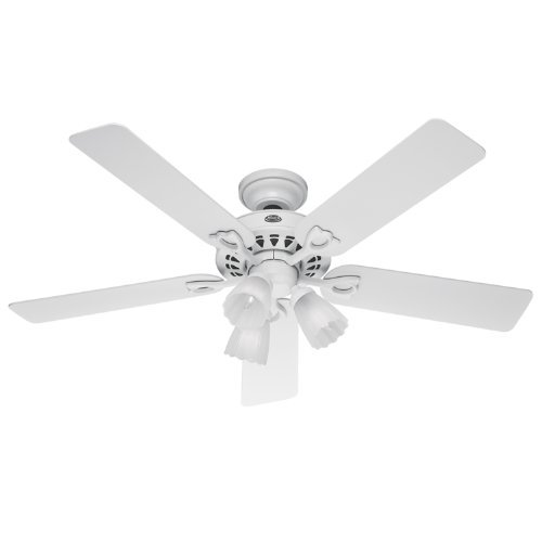 Sontera Three Light (Hunter 22434 Sontera Three-Light 52-Inch Five-Blade Ceiling Fan, White with Frosted Globes Industrial, Harware, Tools, Supply)