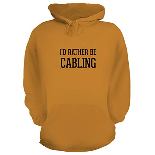 (BH Cool Designs I'd Rather Be Cabling - Graphic Hoodie Sweatshirt, Gold, XXX-Large)