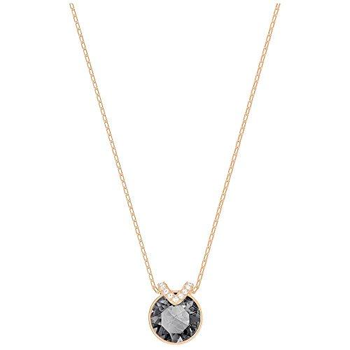 Swarovski Crystal Gray Bella V Rose Gold-Plated ()
