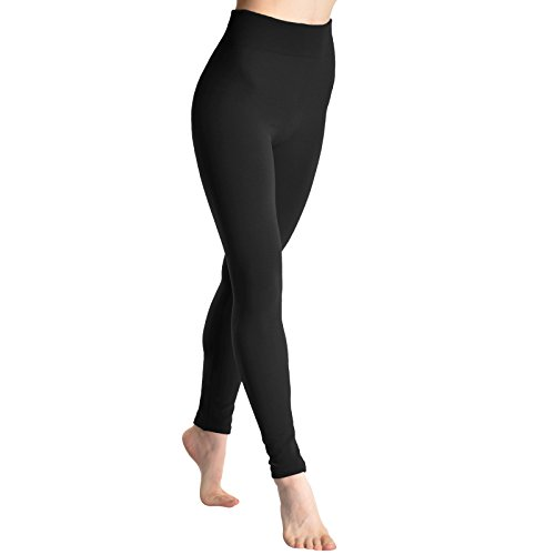 Angelina Fleece Lined Leggings, #1401_black,one size