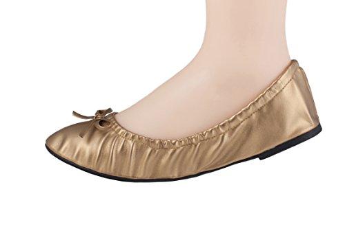 Buy solemates purse pal foldable bowed ballet flats