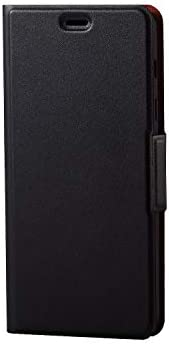エレコム Galaxy Feel2 ケース SC-02L 手帳型 レザー ウルトラスリム ICカード収納 サイドマグネットフラップ スタンド機能付き ブラック PD-SC02LPLFUBK