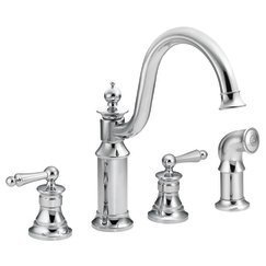 Waterhill Two Handle High Arc Kitchen Faucet