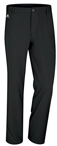 adidas Golf Men's Climalite 3-Stripes Tech Pant, Black, 36/32-Inch (Adidas Golf Mens Climalite 3 Stripes Tech Pant)