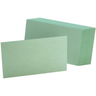 - Oxford Colored Blank Index Cards