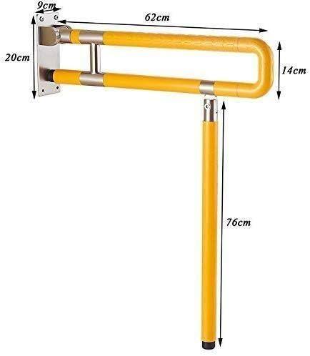 HJXSXHZ366 Ältere Patienten Hilfshandlauf PVC klappbare Armlehne Dusche Edelstahlwanne im Bad 60 cm Ultra-stabiles Bad High-Level-Griff