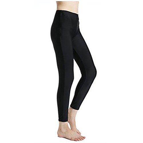 Lynddora Women's Active Fitness Leggings Running Tights Yoga Pants Swim Bottom UV Sun Protection (US M/Tag - Womens Running Bottoms