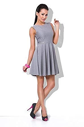 1314fa516afb FUTURO FASHION Beautiful Plain Womens Smart Skater Dress Boat Neck ...