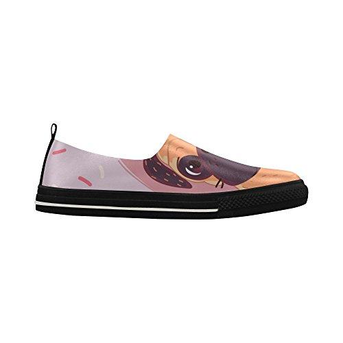 D-Story Custom Pug Birthday Slip-on Microfiber Mens Shoes Sneaker XL0Jyz3g6