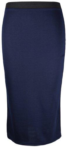 Uni Long Hanger Travail Femme Fourreau Bleu Longueur Moulante Bureau Jupe Neuf Purple Marine Mi FXIxTpx